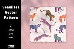 Leopard Vector Seamless Pattern Product Image 1