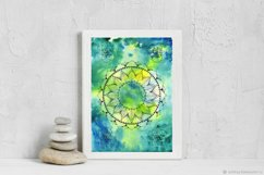 Mandala and flower of life poster, abstract watercolor Product Image 2