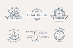 6 Retro Nautical Logo Templates Product Image 1