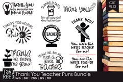 Thank You Teacher Puns - Teacher SVG files for Crafters Product Image 1