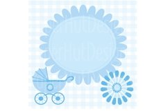 Baby Boy Clipart and Digital Papers Set Product Image 3