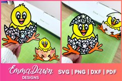 THE CUTE EASTER CHICK SVG BUNDLE 6 MANDALA ZENTANGLE DESIGN Product Image 3