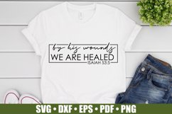 By His Wounds We Are Healed SVG files for Cricut, Easter SVG Product Image 3