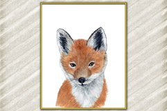 Baby Fox animal digital print Forest watercolor animals Product Image 2