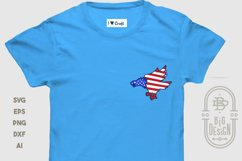 Bald Eagle Silhouette and USA Flag - 4th of July SVG File Product Image 5