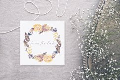 Watercolor roses and gems frames Product Image 5