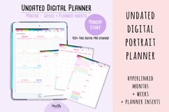 Undated Digital Planner in Portrait Orientation Product Image 1
