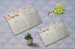 Brown Floral Recipe Card Template Product Image 3
