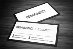 Black and Red Business Card Product Image 5
