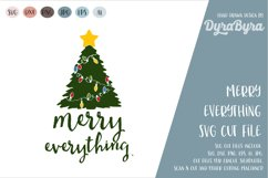 Merry Everything SVG / Christmas SVG / Chistmas Tree SVG Product Image 2