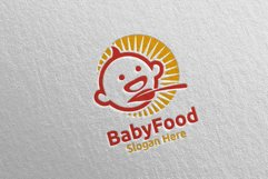 Baby Food Logo for Nutrition or Supplement Concept 76 Product Image 3