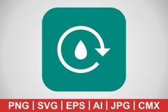Vector Water Recycle Icon Product Image 1