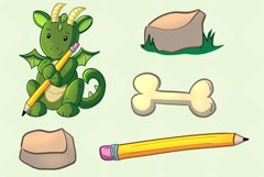 Cute Dragons Clip Art Collection Product Image 4