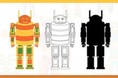 Funny robots. Coloring. Product Image 6