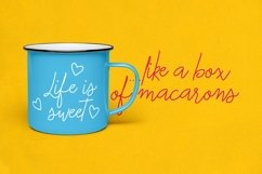 Macarons - Font and Extras / Cursive Font / Script Font / Product Image 3