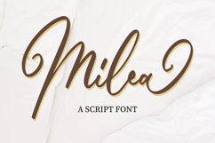 Milea - Script Font Product Image 1