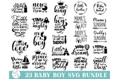 Baby SVG Bundle, Baby Boy Bundle, Baby svg, Baby Quote Product Image 1