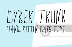 Cyber Trunk - Handwritten Caps Font Product Image 1