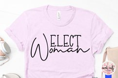 Elect woman - US Election Quote SVG Product Image 3