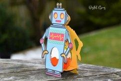 Robot Easter egg holder design SVG / DXF / EPS files. Product Image 3