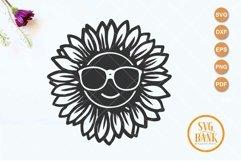 Sunflower with eyeglasses svg, sunflower glasses svg Product Image 2