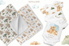 Mom and baby animals Watercolor Product Image 11