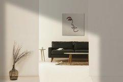 One Line Female Portrait Minimal Line Art Clipart Product Image 3