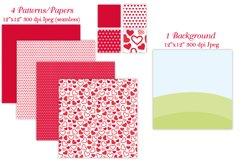 Valentine clipart, Valentine bear graphics & illustrations Product Image 4
