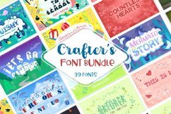 Sale! Crafter's Huge Font Bundle | 39 Fonts in 26 Families Product Image 1