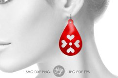 Heart earrings SVG, Valentines earrings, SVG cut files Product Image 5