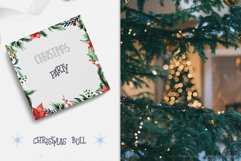 Christmas bull Watercolor Clipart Product Image 10