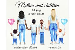 Motrher's day watercolor customizible clipart. Product Image 1