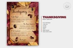 Thanksgiving Menu Template V3 Product Image 2
