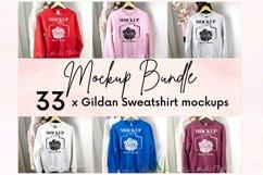 Gildan Sweatshirt Mockup Bundle - Gildan 18000 Mock Up Product Image 1