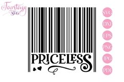 Barcode Priceless - Svg Cut Files Product Image 1