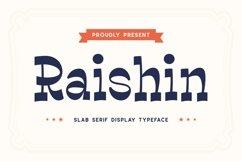 Raishin - Slab Serif Display Typeface Product Image 1
