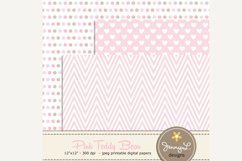 Girl Teddy Bear Digital papers and Clipart SET Product Image 4