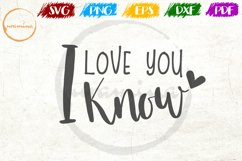 I Love You I Know Love Couple Anniversary Quote Art Product Image 1
