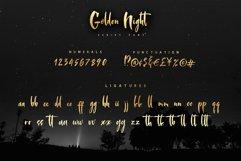 Golden Night script font Product Image 3