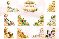 Watercolor Valentine Floral Corners Product Image 4