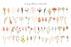 Dried Flowers. Watercolor Collection. Patterns and Cliparts Product Image 2