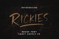 Rickies - Brush Font Product Image 6