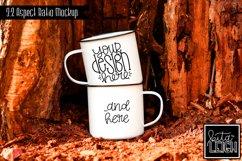 Double Stack Two Campfire Mug Camping Mockup Product Image 1