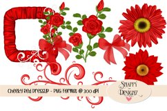Red Polka Dot Dress Up Scrap Kit Product Image 2