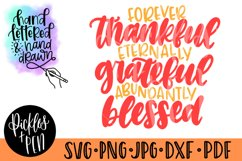 thankful grateful blessed svg - thanksgiving quote Product Image 1