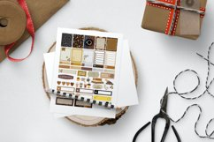 Coffee Lover Planner Stickers Canva Template, Customizable Product Image 3