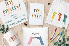 ASL, Sign Language designs bundle for sublimation printing Product Image 1