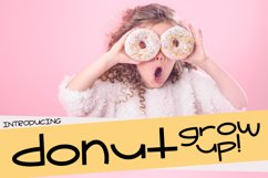 Donut Grow Up a Fun Font with extra Doodles Product Image 1