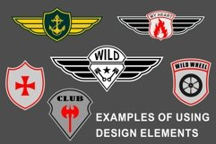 Patch templates for military and biker design Product Image 5