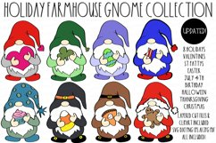 Farmhouse Holiday Gnome Collection SVG DXF & Clipart Set Product Image 1
